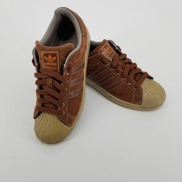adidas superstar suede brown